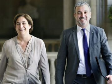 Ada Colau y Jaume Collboni