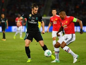 Gareth Bale, en acción ante el United en la Supercopa de Europa