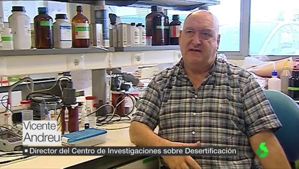 Vicente Andreu, director del centro de investigaciones sobre desertificación