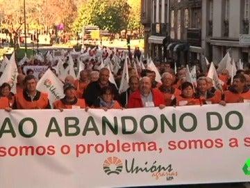 Manifestación de ganaderos gallegos