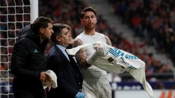 Sergio Ramos, con la nariz fracturada