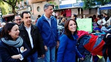Fernando Martínez-Maillo, Xavier García Albiol y Andrea Levy