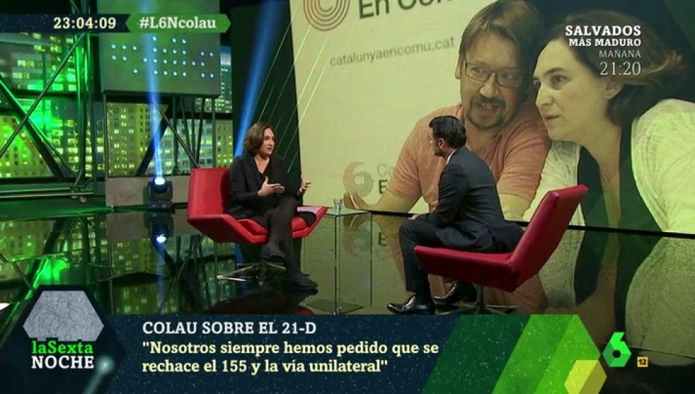 Ada Colau responde en laSexta Noche