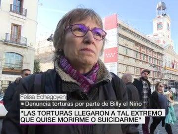 Felisa Echegoyen, denuncia torturas de Billy el Niño