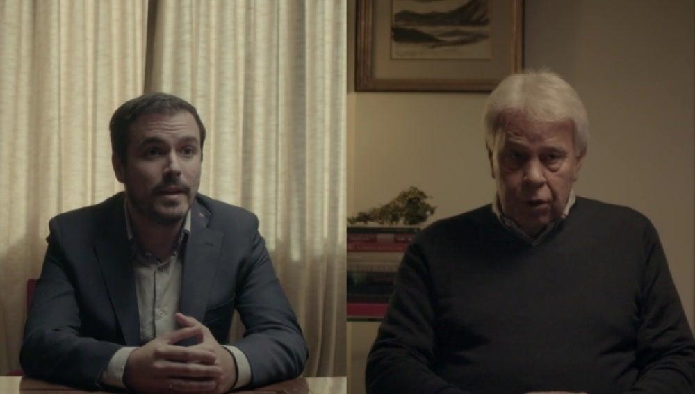 Alberto Garzón y Felipe González