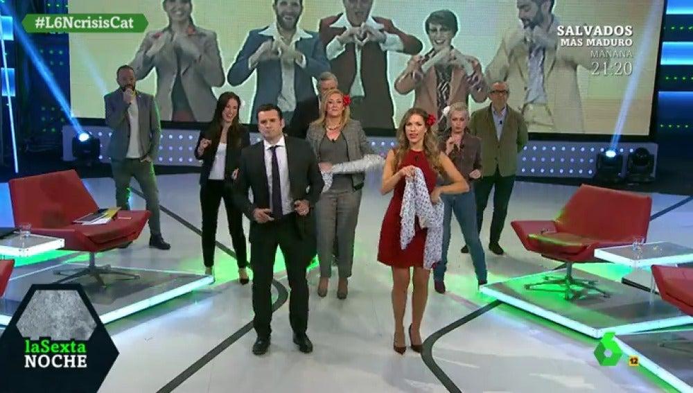 laSexta Noche bailando el 'Amigos para siempre'