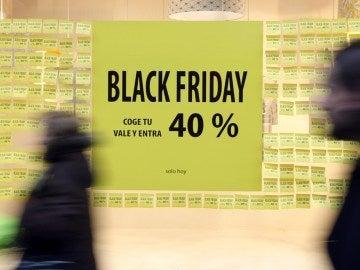Cartel promocional con descuentos del Black Friday