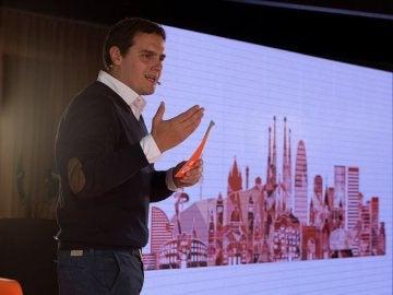 Albert Rivera durante un acto en Barcelona