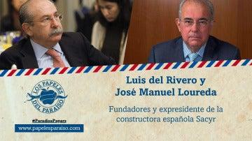 Luis del Rivero y José Manuel Loureda, expresidentes de Sacyr