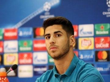 Marco Asensio, en rueda de prensa