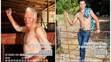 """Fotografías facilitadas por los creadores del calendario """"Los más bellos pastores de la Sierra de Estrela"""""""