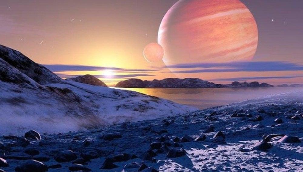 Recreación de una superficie extraterrestre