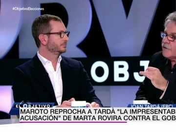 Maroto y Joan Tardà en El Objetivo