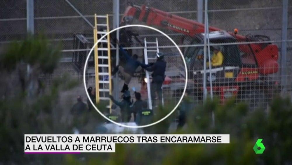 Intento de salto a la valla de Ceuta