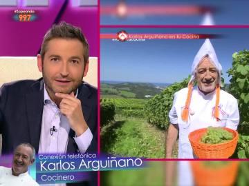 Karlos Arguiñano conecta con Zapeando
