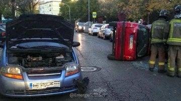 Una mujer ebria provoca un accidente en Sevilla