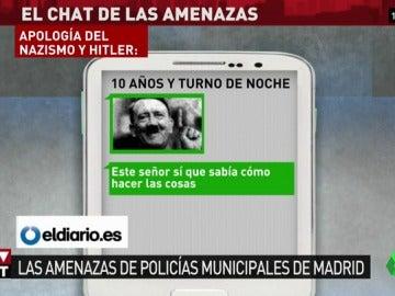 """""""Hitler sí era un señor"""", """"el fascismo es alegría"""" o """"matar es nuestro lema"""": los nuevos mensajes del chat de la Policía Municipal"""