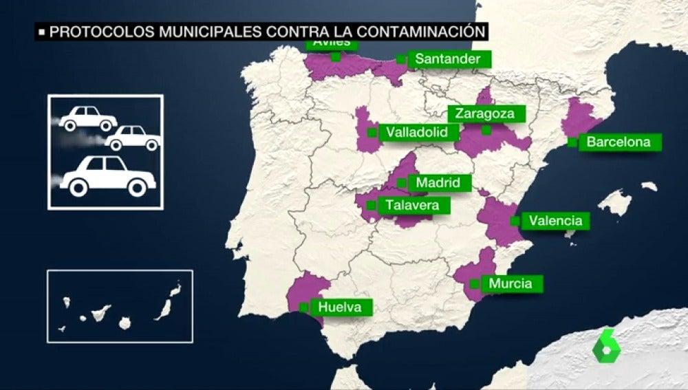 La polución ahoga España: 16 ciudades superan límite de emisiones de partículas contaminantes