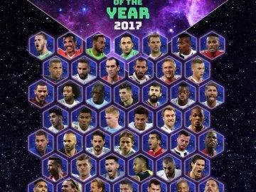 Jugadores elegidos para formar el equipo del año de la UEFA