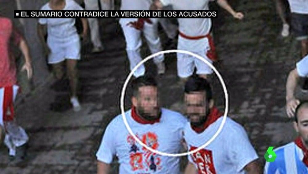 Dos de los miembros de 'La Manada' en San Fermín