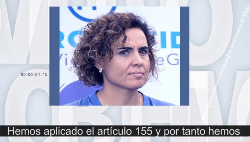 """Dolors Montserrat: """"Desde la aplicación del 155 las empresas ya no se están marchando de Cataluña"""""""