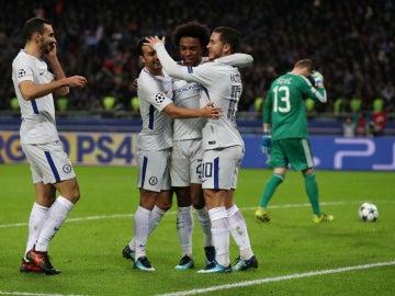 El Chelsea celebra un gol