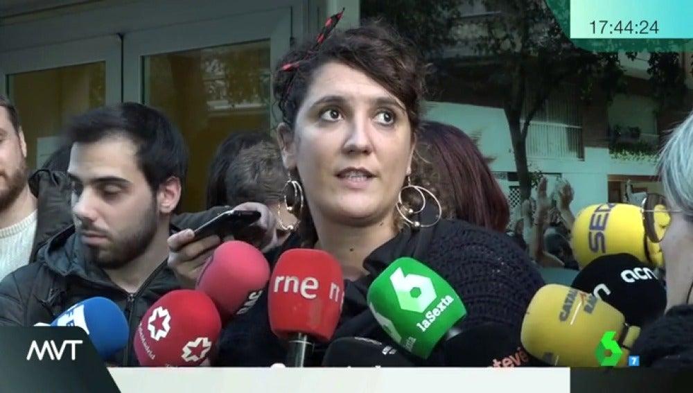Nuria Gispert, portavoz de la CUP