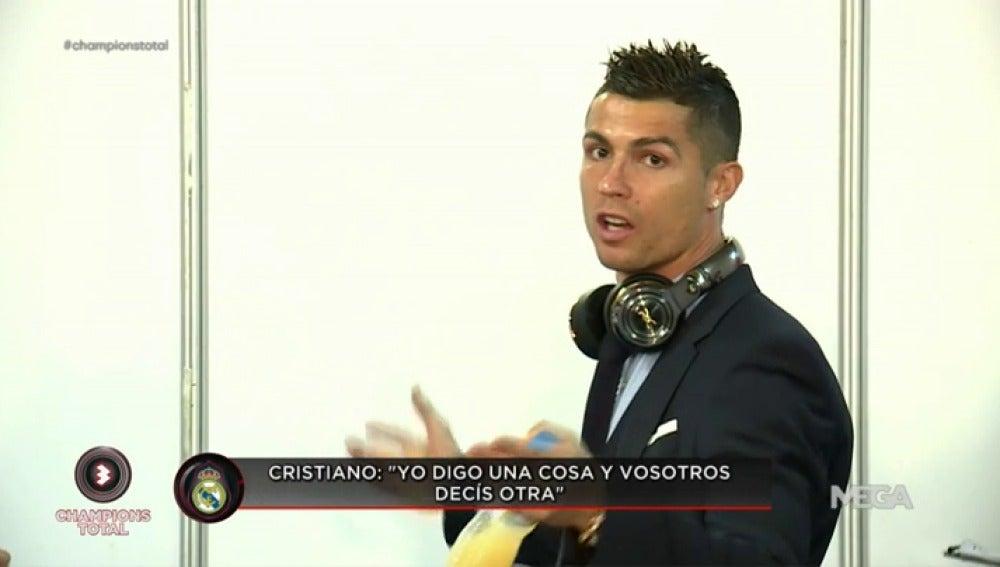 """El enfado de Cristiano Ronaldo con los medios: """"Yo digo una cosa y vosotros decís otra"""""""