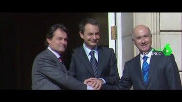 """""""Sabemos quién y por qué, pero ¿cómo hemos llegado hasta aquí?"""": José Luis Rodríguez Zapatero y Artur Mas, cara a cara en Salvados"""