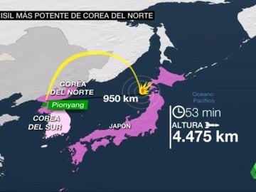El misil más potente desde Corea del Norte