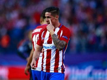 Fernando Torres, en un partido del Atlético