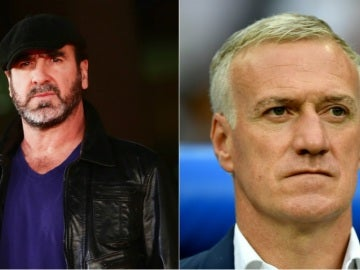 Eric Cantona y Didier Deschamps