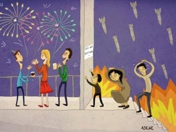 Caricatura de Adene Cartoon