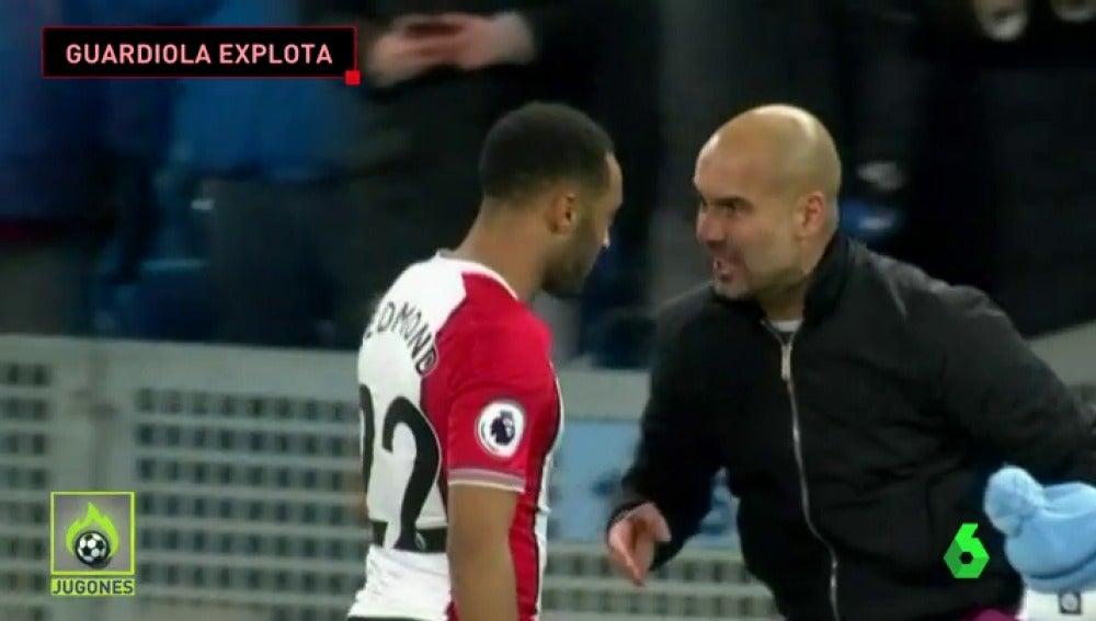 Guardiola enloqueció con un jugador rival al terminar el partido del Manchester City