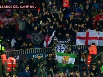 Expulsan a un grupo nazi del Camp Nou