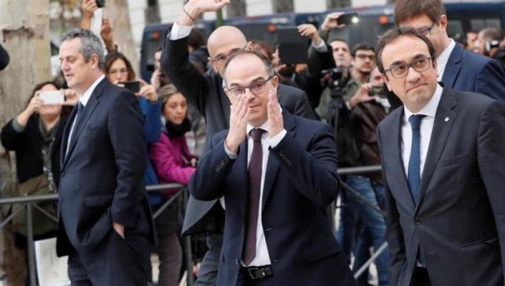 Varios exconsellers a su llegada a la Audiencia Nacional