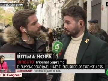 """Gabriel Rufián, sobre el recurso de Podemos al 155: """"Forma parte de su equidistancia. Se lo agradecemos"""""""
