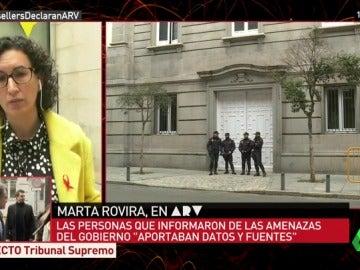 """Marta Rovira reitera su denuncia contra las amenazas del Gobierno: """"Ha contribuido a generar un espacio más cercano al diálogo"""""""