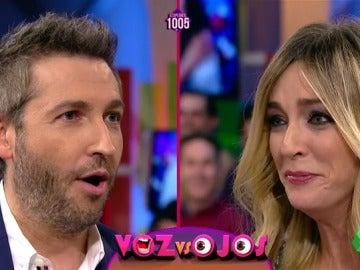 Frank Blanco y Anna Simón se baten en duelo: ¿Quién aguantará más cantando?, ¿y sin parpadear?