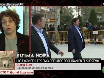"""Gloria Elizo: """"Vamos a recurrir la aplicación por parte del Gobierno del PP el 155 porque excede de las competencias"""""""