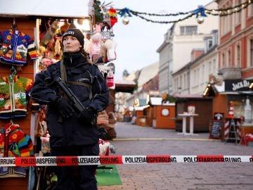 La policía alemana acordona el mercadillo navideño de Postdam