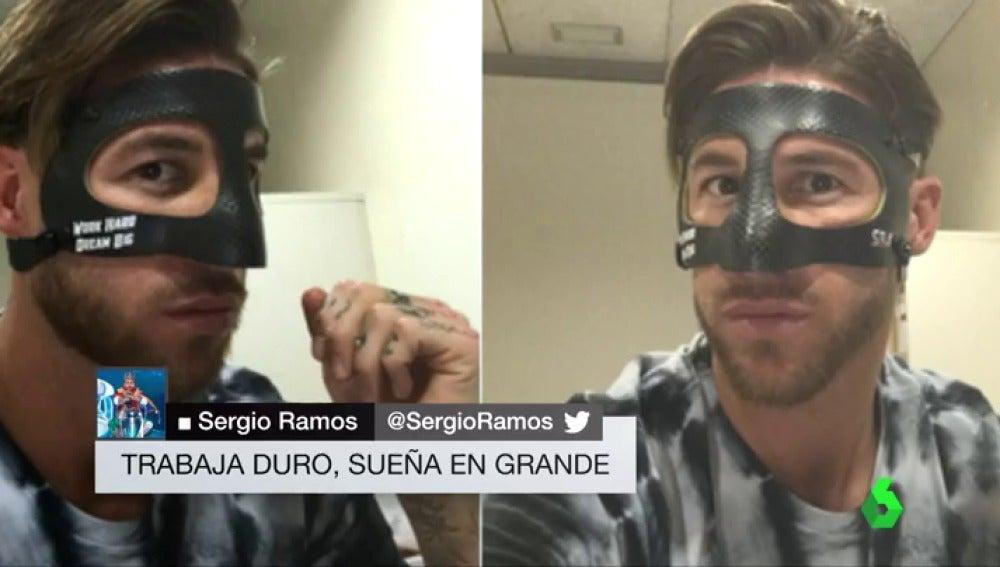 Así es la máscara que Sergio Ramos llevará ante el Athletic