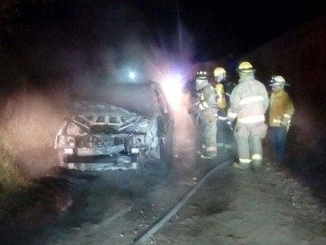 Estado del vehículo en el que fueron quemadas las víctimas