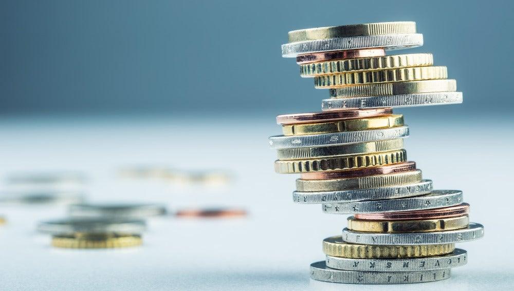 Instantánea de monedas de Euro