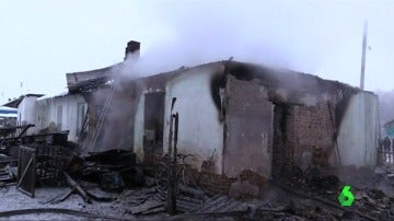 La vivienda en la que se ha originado el incendio