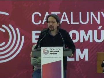Pablo Iglesias en la Asamblea de En Común Podem