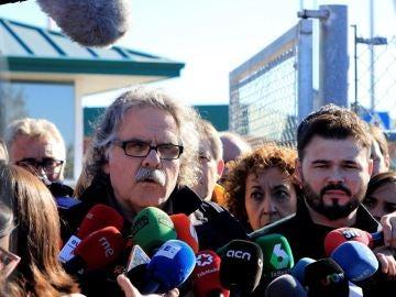Tardà y Rufián ante los medios