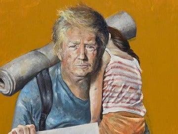 Trump retratado como un exiliado