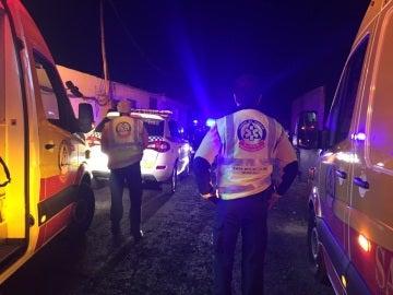 Intervención de los Servicios de Emergencias en la Cañada Real de Madrid