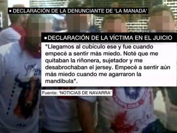 Declaración ante el juez de la joven que denunció a 'La Manada'